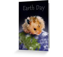 Earth Day Hamster Greeting Card