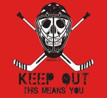 Goalie Hockey Skull Keep Out by SaucyMitts