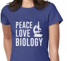 Peace Love Biology Womens Fitted T-Shirt