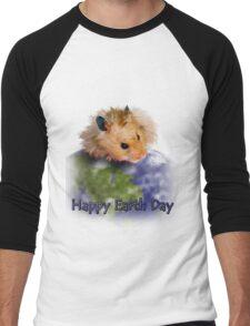 Happy Earth Day Hamster Men's Baseball ¾ T-Shirt