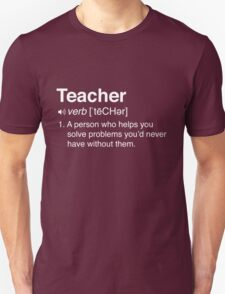 Funny Teacher Definition T-Shirt