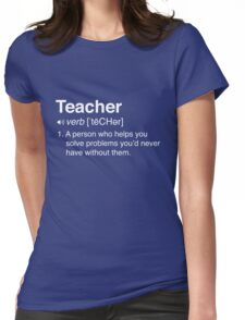 Funny Teacher Definition Womens Fitted T-Shirt