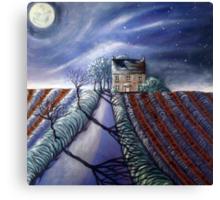 Twilight Furrows on Keld Spring Lane Canvas Print