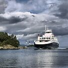 The Raunefjord Ferry (1) by Larry Lingard-Davis
