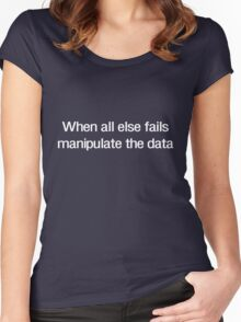 When all else fails manipulate the data Women's Fitted Scoop T-Shirt
