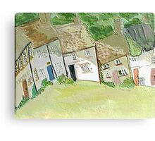 Hillside cottages Canvas Print