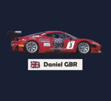 """Daniel"" Red Italian Race Car - Kid's T-Shirt Kids Clothes"