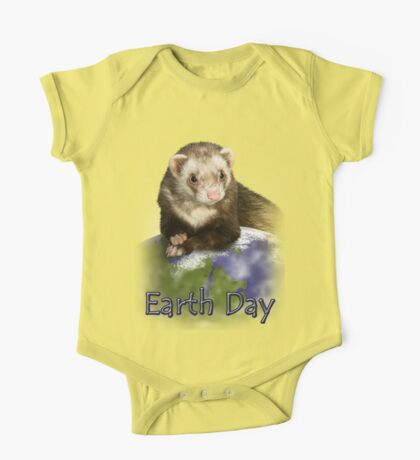 Earth Day Ferret One Piece - Short Sleeve
