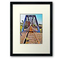 Vivid Train Tracks Framed Print