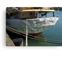 What a lovely stern you have....!  Canvas Print