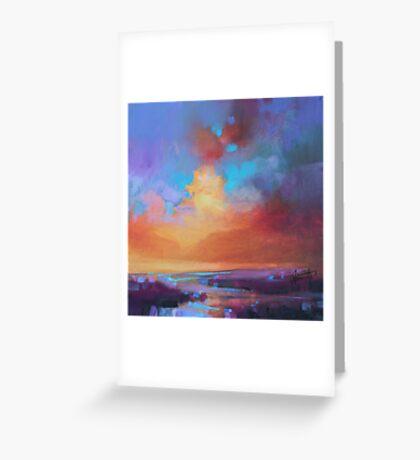 CMY Sky Study 2 Greeting Card