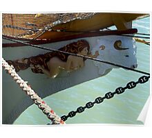 Double Figurehead on Tall Ship...............!  Poster