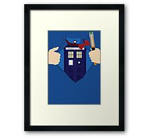 Truth, Justice and... Doctor Who? Framed Print