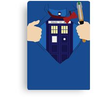 Truth, Justice and... Doctor Who? Canvas Print