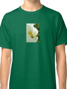 Beautiful Calla Flower On Green Natural Background  Classic T-Shirt