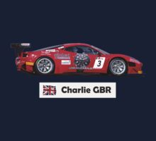 """Charlie"" Red Italian Race Car - Kid's T-Shirt One Piece - Short Sleeve"