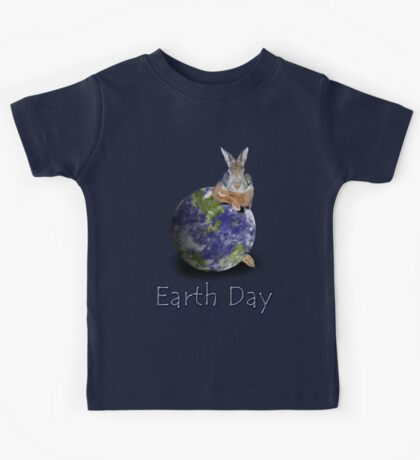 Earth Day Bunny Rabbit Kids Tee
