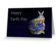 Happy Earth Day Bunny Rabbit Greeting Card