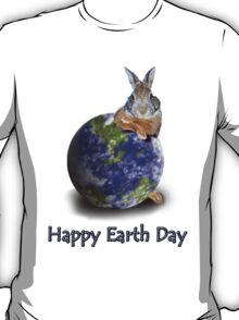Happy Earth Day Bunny Rabbit T-Shirt