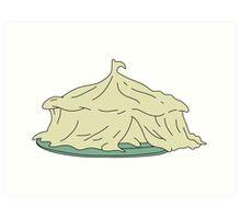 Mashed potato circus tent Art Print