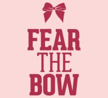 Fear the Bow Magenta Red Pink Kids Clothes