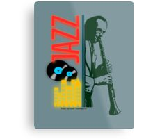 A jazz-O-logy affiche Metal Print