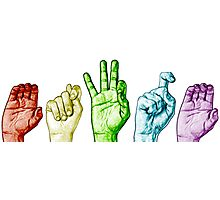 CTFxC in American Sign Language (Colors) Photographic Print