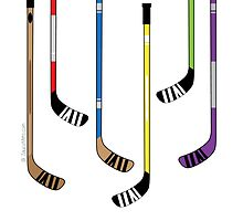 Thank You Hockey Coach - Hockey Sticks by SaucyMitts