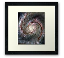 Nebula Brush Strokes Framed Print