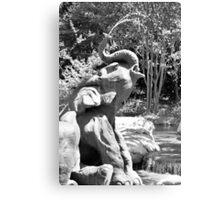 Elephant Fountain Canvas Print