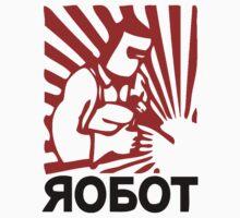 Soviet robot worker  Kids Clothes