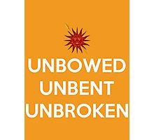 House Martell Unbowed Unbent Unbroken Photographic Print