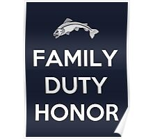 House Tully Family Duty Honor Poster