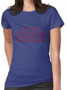 3 out of 4 voices in my head want to sleep The other wants to know if penguins have knees. Womens Fitted T-Shirt