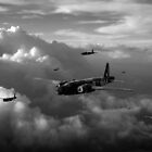 Vickers Wellingtons black and white version by Gary Eason + Flight Artworks