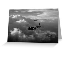 Vickers Wellingtons black and white version Greeting Card
