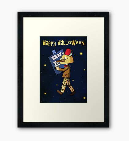 Halloween Doctor Who Card Framed Print