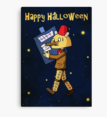 Halloween Doctor Who Card Canvas Print