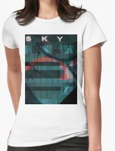 Sky Scene Womens Fitted T-Shirt