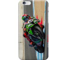 Tom Sykes at Laguna Seca 2013 iPhone Case/Skin
