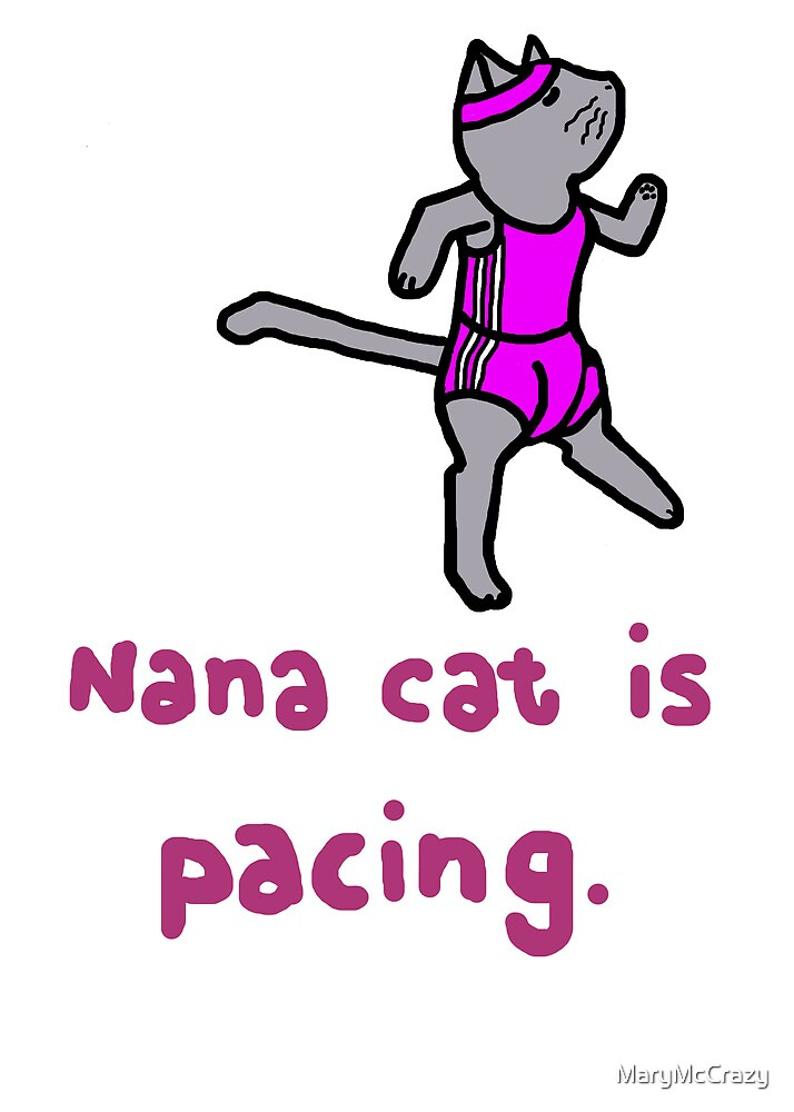 Nana cat is pacing by MaryMcCrazy