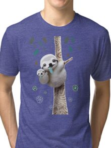 Baby Sloth Daylight Tri-blend T-Shirt