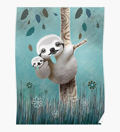 Baby Sloth Daylight Poster