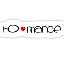 ho-mance (black text) Sticker
