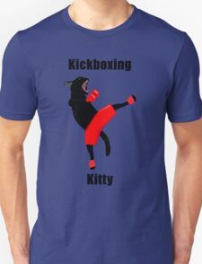 Kickboxing Kitty in vector Unisex T-Shirt