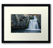 Middle McCloud Falls Framed Print