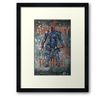 Deathstroke - Good Day And Go To Hell Framed Print