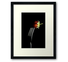 Forked berry Framed Print