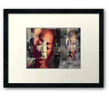 Out of character Framed Print
