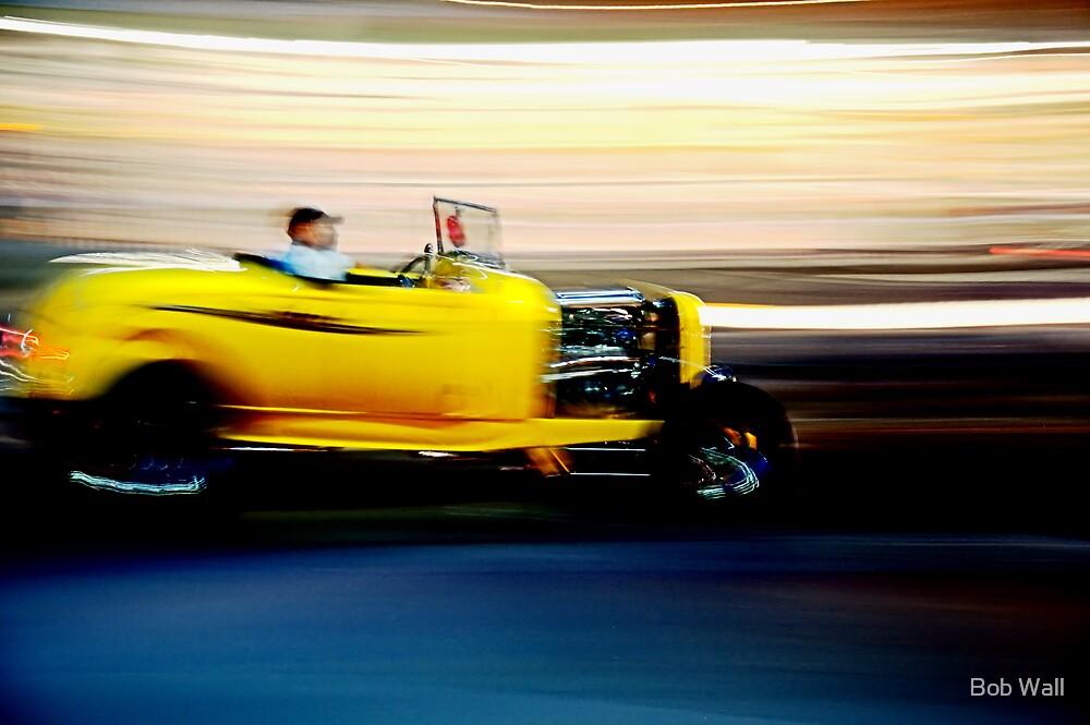 Yellow Rod at Night by Bob Wall